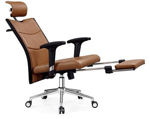Modern Office Chair Set Leather Swivel Leisure Chair pictures & photos