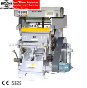 PLC Control Foil Stamping Die Cutting Machine 750*520mm (TYMC-750) pictures & photos