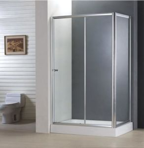 Bathroom Best Price Economy 4/5mm Sliding Door Shower Enclosure with Side Panel pictures & photos