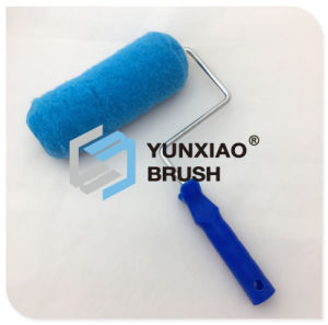 20mm Blue Polyester Paint Roller Brush with Plastic Handle pictures & photos