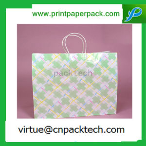 New Design White Kraft Paper Bag with Wristed Handle for Light Stuff pictures & photos