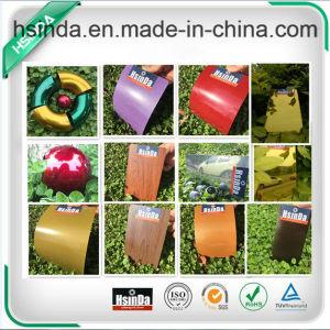Hsinda Spark Bonded Metallic Black Sandy Texture Powder Coating pictures & photos