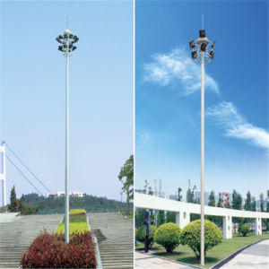 30m Sports Stadium High Mast Lighting Pole with Artificial Ladder pictures & photos