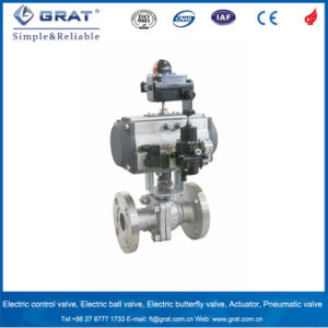 Double Action Cast Steel Flange Pneumatic Ball Valve with Filter Reducing Valve pictures & photos