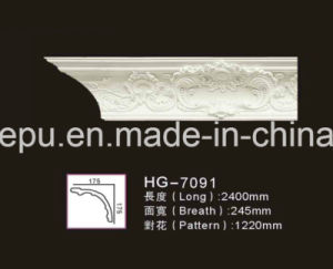 Big Width European Style Polyurethane PU Architectural Cornice Foam Moulding for Home Interior Decoration pictures & photos