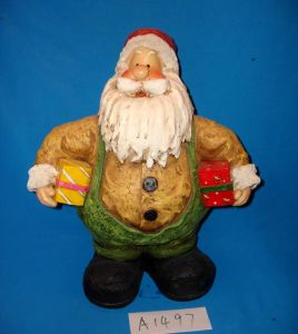 Funny Fat Santa with Gifts for Christmas Decoration pictures & photos
