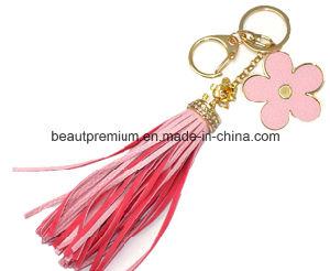 Fashion Imitation Gold Key Chain with Flower Pendant Key Tassel BPS063