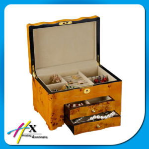 Custom Made Wooden Jewelry Box with Velvet Lining pictures & photos
