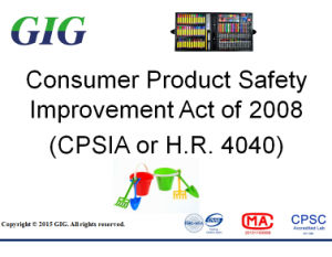 Cpsia/Hr4040 Test Service for Consumer Product Safety Improvement pictures & photos