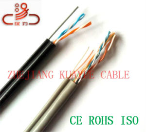 Filled Drop Wire 2pair Messenger Telephone Cable China/Computer Cable/ Data Cable/ Communication Cable/ Connector/ Audio Cable pictures & photos