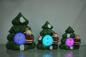 Xmas Resin Craft Candle Holder for Home Decor pictures & photos