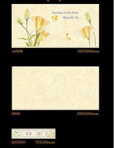 Inkjet Matt Glazed Interior Ceramic Tile for Washroom Decoration 300X600mm pictures & photos