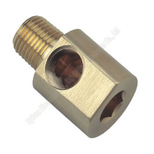 CNC Machining/CNC Machined Brass/Copper Parts with Male Connector pictures & photos