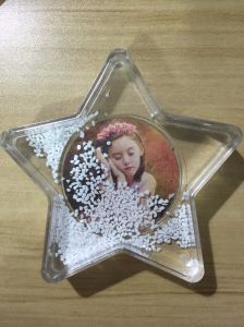 Whosale Star Shaped Plastic Photo Snow Globe as Gift pictures & photos