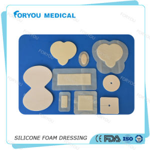 2016 FDA Approved Polyurethane Border Diabetic Allevyn Sacrum Dressing Wound Care Silicone AG Dressing pictures & photos