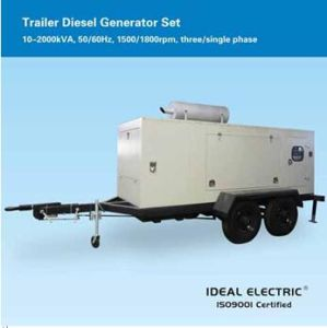 Trailer Diesel Generator Set, 2400kVA 480V Three-Phase 1800rpm 60Hz pictures & photos