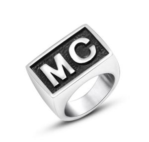"""Mc""Printed Stainless Jewelry Men′s Ring Punk Style pictures & photos"