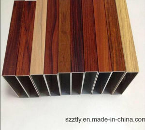 Customized Al-6063/6061 Wooden Grain Aluminum Extrusion Profile pictures & photos