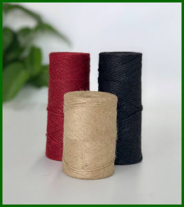 Eco Dyed Jute Fiber Yarn (Red) pictures & photos