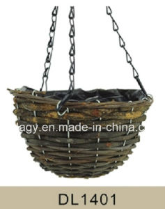 Garden Decorative Rattan Hanging Flower Planter pictures & photos