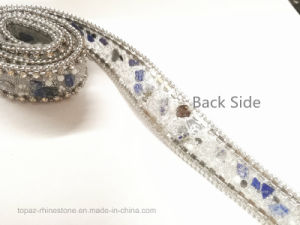 Wedding Accessories Custom Hot Fix Rhinestone Chain Rhinestone Trim (TS-sapphire 1.8cm) pictures & photos