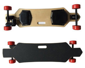Belt Motor 4 Wheel Electric Longboard Skateboard with Remote Control pictures & photos