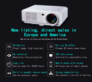 Fashion-Design Projector Trade Assurance WiFi Android 4.4 or 5.1 3D Bluetooth Mini Projector pictures & photos