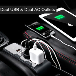 Car Power Inverter 12V DC to 220V AC Converter Adapter with Cigarette Lighter Dual USB Charger AC Outlets pictures & photos