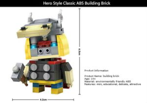 6731404-ABS Cartoon Hero Style Building Block pictures & photos