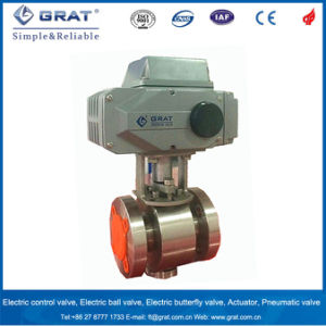 High Temperature 450 Degree Stainless Steel 316 Electric Motorized Ball Valve for Steam pictures & photos