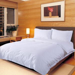 100% Cotton Plain White Textile Hotel Bedding White Bed Linen pictures & photos