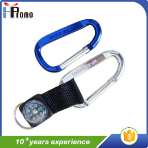 D Shaped Carabiner with Lanyard pictures & photos