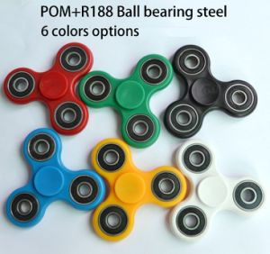 High Quality POM Original Mterial R188 Bearing Shaft 3 to 4 Mins Spinning Time Hand Spinner Toy Fidget Spinner Tri Anti Stress Fidget Spinner pictures & photos