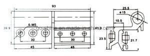 GS-D19 50-15 Aluminum Window Hinges pictures & photos