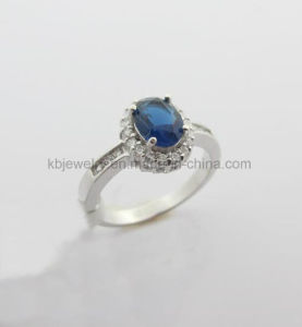 Pure 925 Silver Jewelry Plated Finger Ring for Lady (R7763) pictures & photos