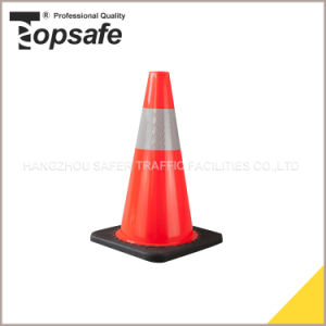45cm Orange Color Soft PVC Cone with 10cm High Intensity Refelctive Tape (S-1237) pictures & photos