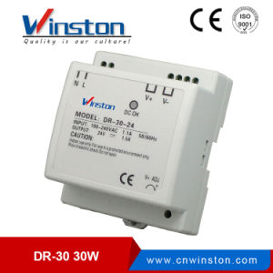 DIN Rail Single Output Switching Power Supply with Ce (DR-30W-5 DR-30-12 DR-30-15 DR-30-24) pictures & photos