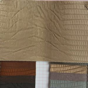 Lizard PVC Leather for Making Bags pictures & photos