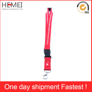 Printed Ribbon Polyester Lanyard for Badge and Medal Fabric pictures & photos