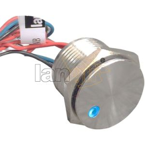 16mm 200mA 24VAC/DC Flat Head Normally Open Momentary DOT Illuminated 12V Stainless Steel Piezo Switch pictures & photos