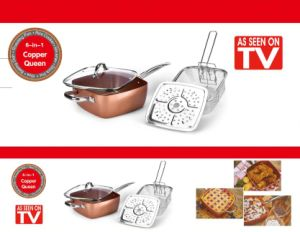 Copper Chef 10 Inch Square Frying Pan /Fry Pan in Various Size pictures & photos