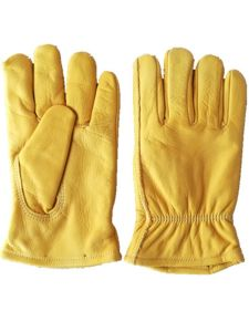 Cow Grain Leather Keystone Thumb Nylon Jersey Liner Driver Glove pictures & photos