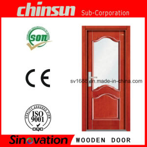 Cheap Bedroom Wooden Door with PVC pictures & photos