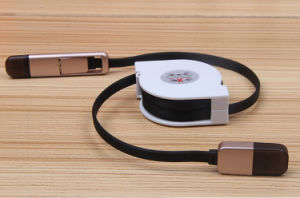 Logo Custom 2 in 1 Retractable USB Charging Cable pictures & photos