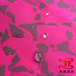 100% Polyester Pongee Fabric with Reflective Print for Jackets and Garment Fabric pictures & photos