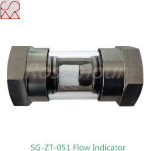 Tubular Stainless Steel Sight Glass Flow Indicator for Fluid pictures & photos