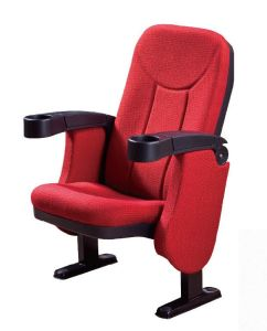 High Quality Fabric and PP Cinema Chair with Cup Holder (RX-380) pictures & photos