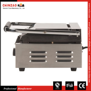 Commercial Electric Sandwich Panini Griddle Contact Grill with Both Ribbed Plates pictures & photos