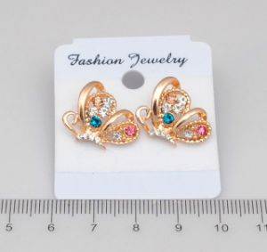 Gold Color Butterfly Fashion Stud Earrings Fashion Jewelry pictures & photos