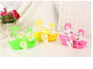 Three Color Mini LED ABS Plastic Cygnet Cute Fan pictures & photos